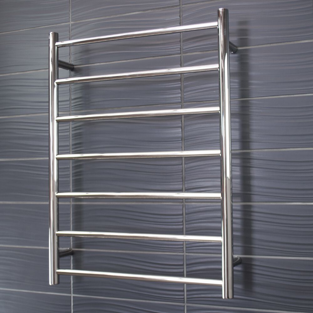 Radiant Heated Towel Rail Round 7 Bar Qld Floor Heating