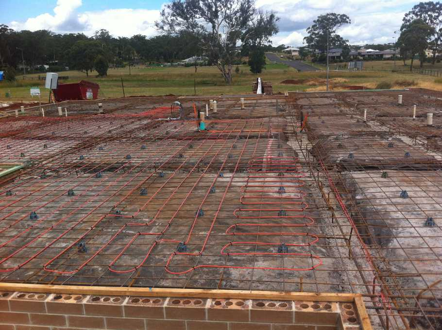 in slab floor heating